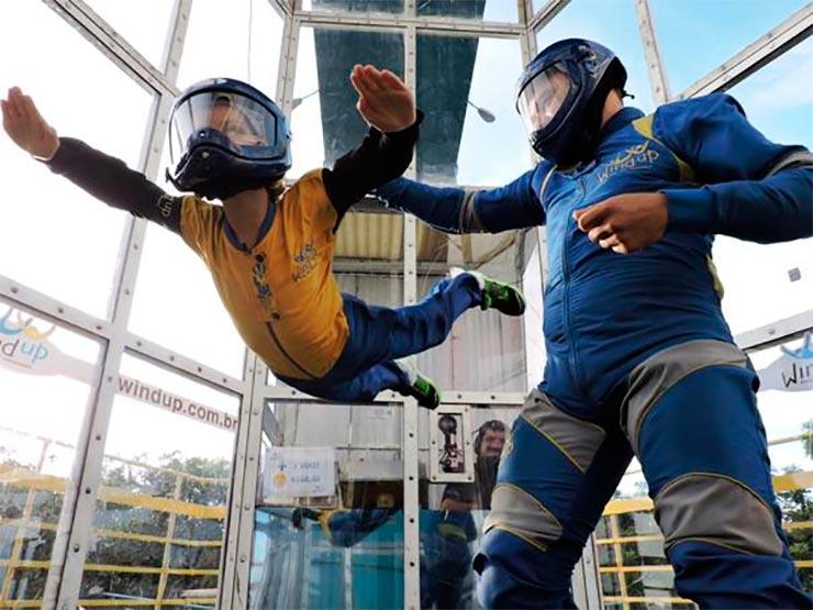 Túnel de vento em São Paulo: Wind Up (Foto: Divulgação)