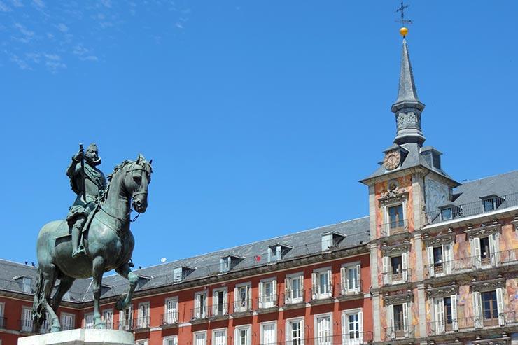 O que fazer em Madrid: Plaza Mayor (Foto: Esse Mundo É Nosso)