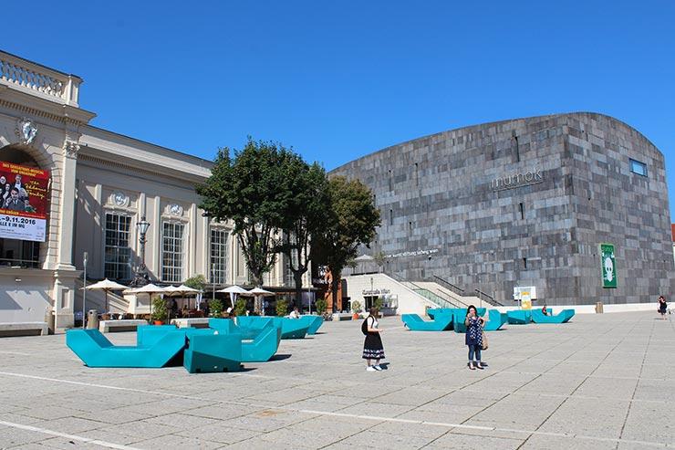 Pontos turísticos de Viena: MuseumsQuartier (Foto: Esse Mundo É Nosso)