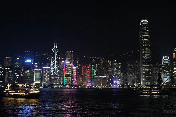 Show de luzes em Hong Kong (Foto: Esse Mundo É Nosso)