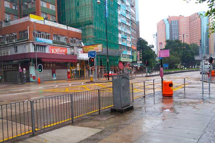 Furacão em Hong Kong (Foto: Esse Mundo é Nosso)