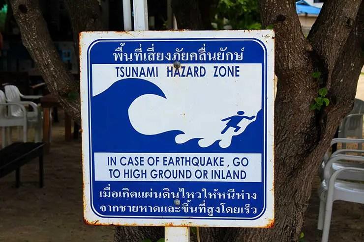 Tsunami em Phi Phi na Tailândia (Foto: Esse Mundo é Nosso)