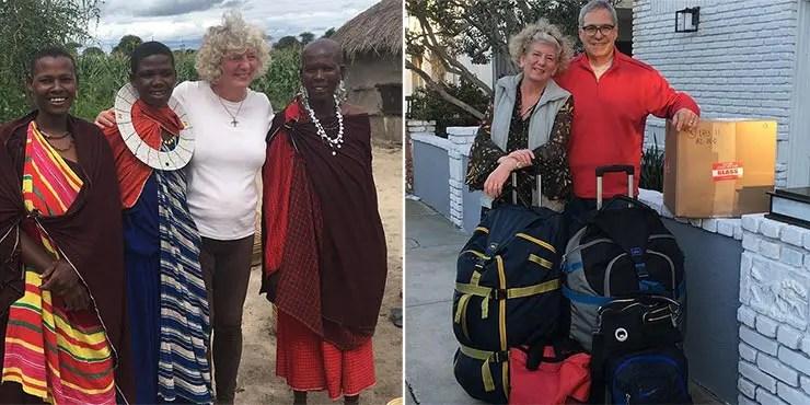 Casal de aposentados Debbie e Michael Campbell viaja o mundo (Foto: Arquivo Pessoal/@theseniornomads)