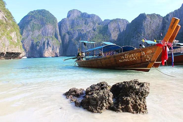 Praias de Phi Phi, na Tailândia (Foto: Esse Mundo é Nosso)