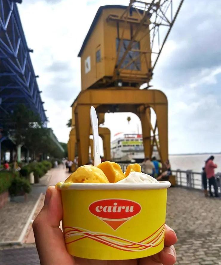 Culinária paraense - Pratos típicos do Pará: Sorvete Cairu (Foto: Esse Mundo É Nosso)