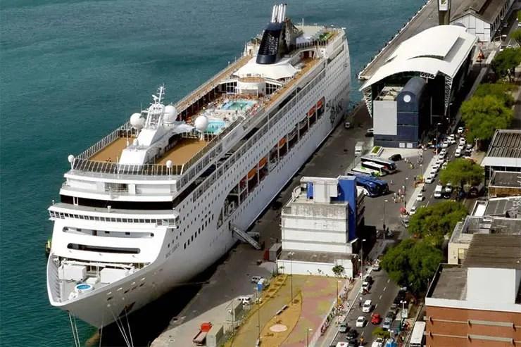 O que fazer numa parada de navio em Salvador (Foto: Divulgação/CODEBA)