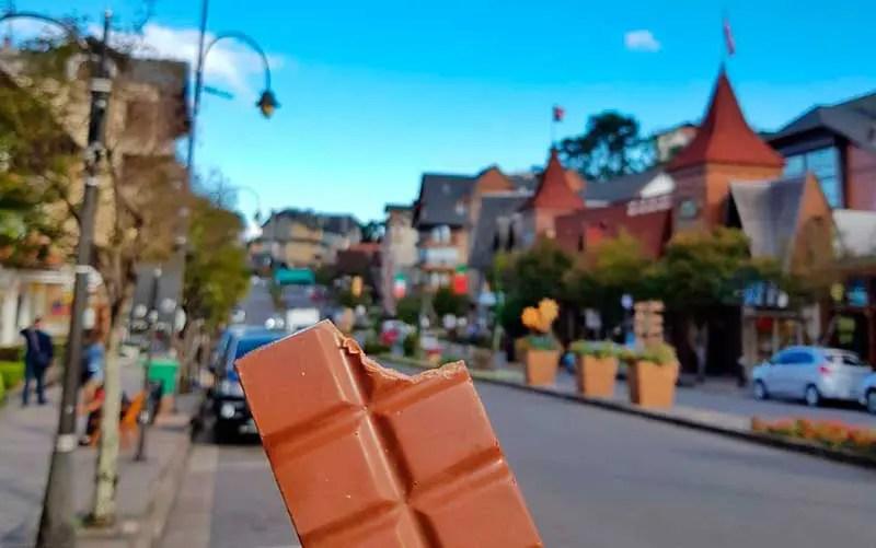 Barra de chocolate em Gramado