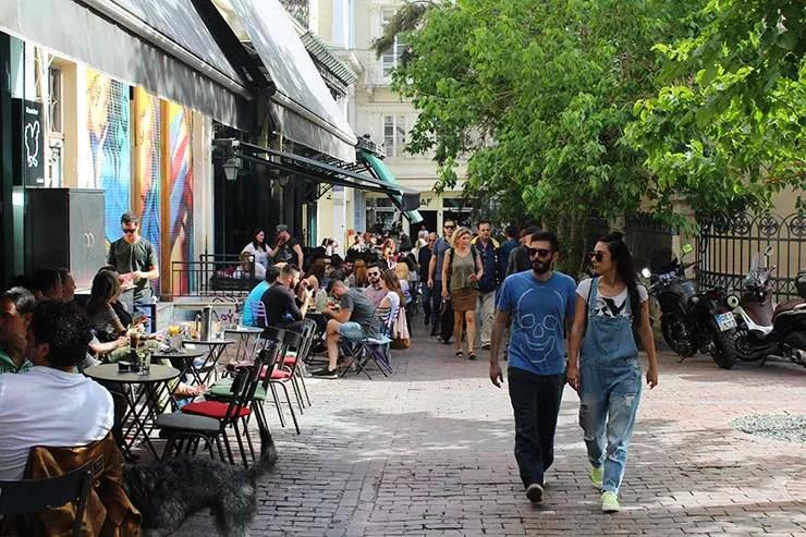 O que fazer em Atenas, Grécia - Rua Agias Irinis (Foto: Esse Mundo É Nosso)