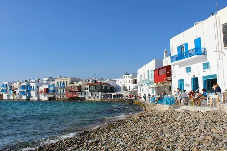 As melhores praias de Mykonos - Little Venice (Foto: Esse Mundo É Nosso)