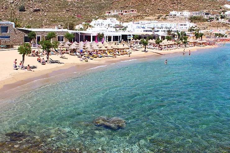 As melhores praias de Mykonos - Paradise Beach (Foto: Esse Mundo É Nosso)