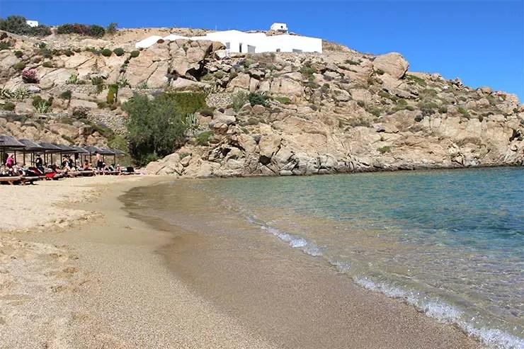 As melhores praias de Mykonos - Super Paradise (Foto: Esse Mundo É Nosso)