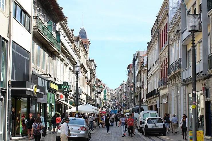 O que fazer no Porto, Portugal - Rua Santa Catarina (Foto: Esse Mundo É Nosso)