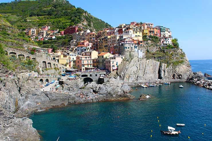 Trem nas Cinque Terre (Foto: Esse Mundo é Nosso)