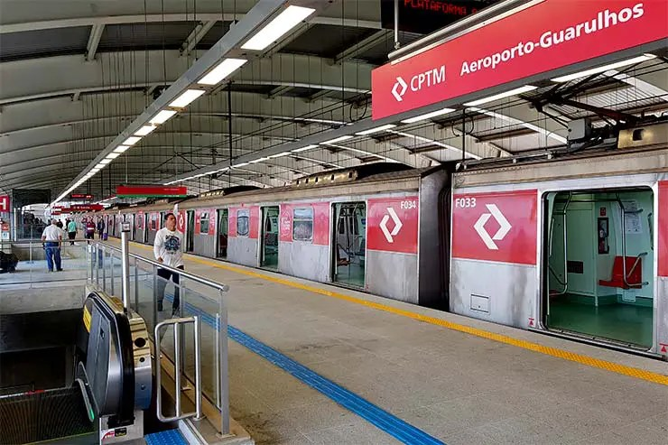 Como chegar no aeroporto de Guarulhos: Estação de trem (Foto: Esse Mundo É Nosso)