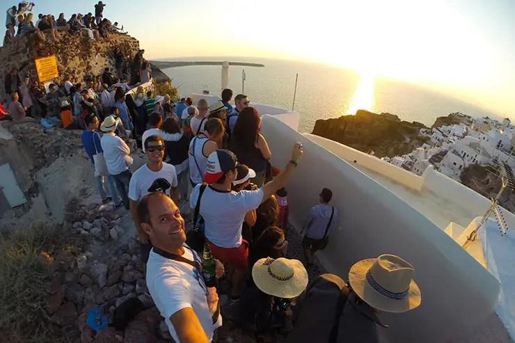 Pôr do sol em Santorini, Oia (Foto: Esse Mundo É Nosso)