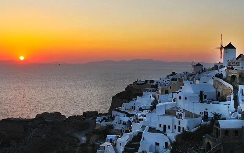 Pôr do sol em Oia (Foto: Esse Mundo É Nosso)