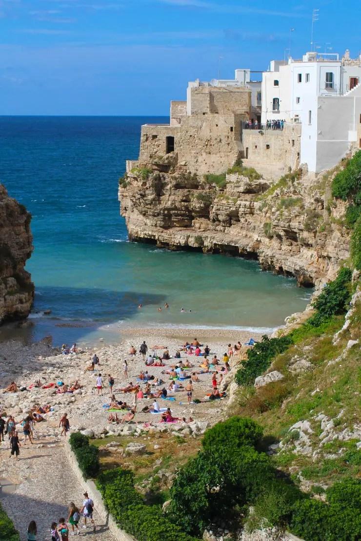 Melhores praias da Itália - Polignano a Mare (Foto: Esse Mundo é Nosso)