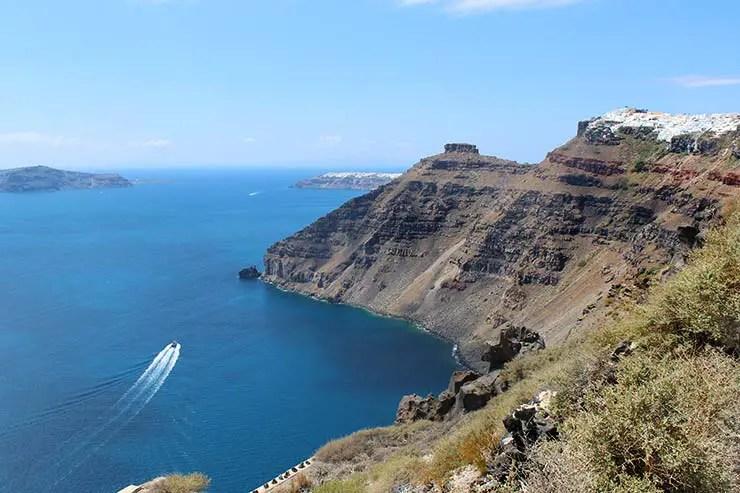 Caldeira em Santorini (Foto: Esse Mundo É Nosso)
