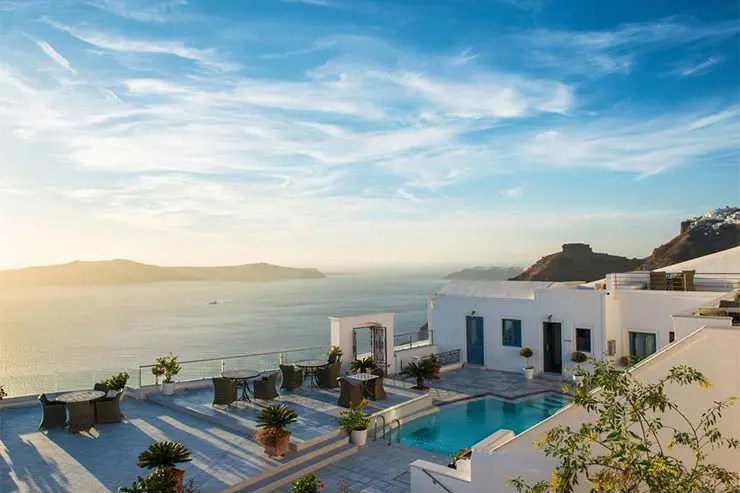 Onde ficar em Santorini - Fira - Anteliz Suites (Divulgação/Booking)