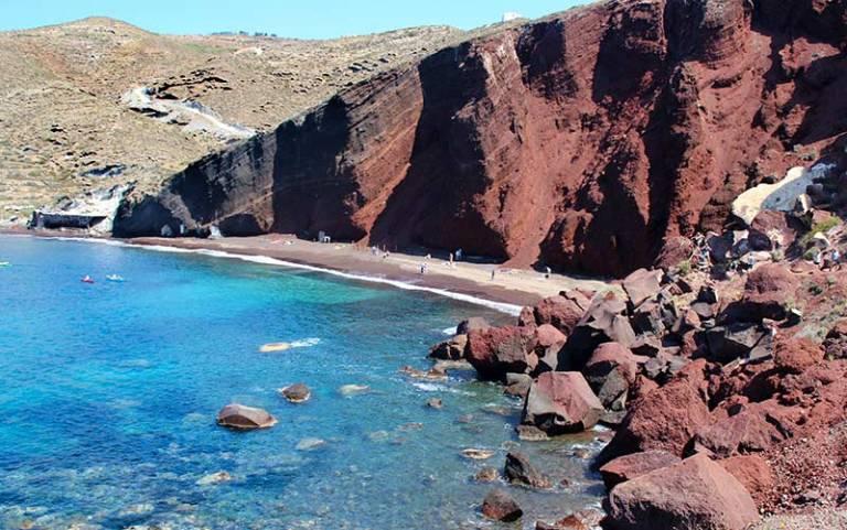 Red Beach em Santorini, a Praia Vermelha (Foto: Esse Mundo É Nosso)