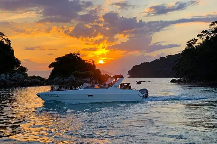 Pôr do sol em Ilha Grande (Foto: Esse Mundo é Nosso)
