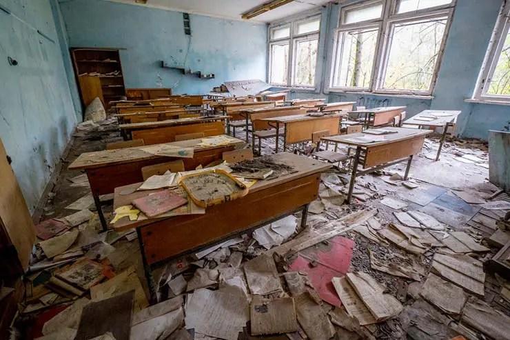 Cidade fantasma de Pripyat, Ucrânia (Por Tomasz Jocz via Shutterstock)