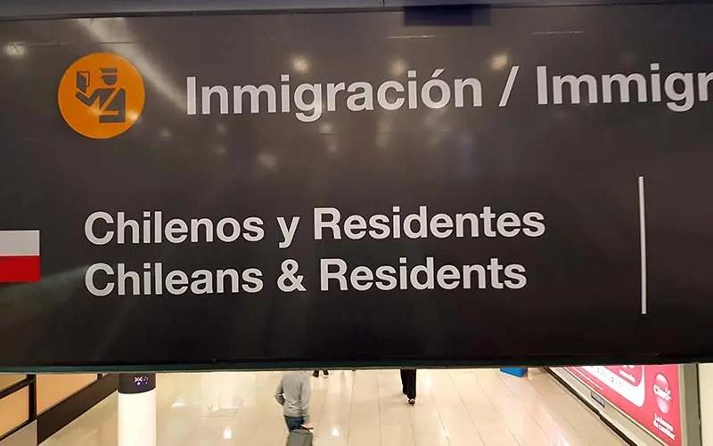 Imigração em Santiago - Você não precisa de passaporte para o Chile