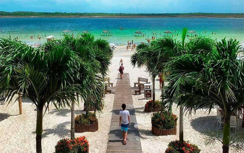 Onde fica Jericoacoara: Passarela na Lagoa do Paraíso (Foto: Esse Mundo é Nosso)