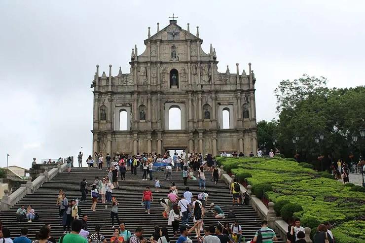 Ruínas da Igreja de São Paulo em Macau (Foto: Esse Mundo É Nosso)