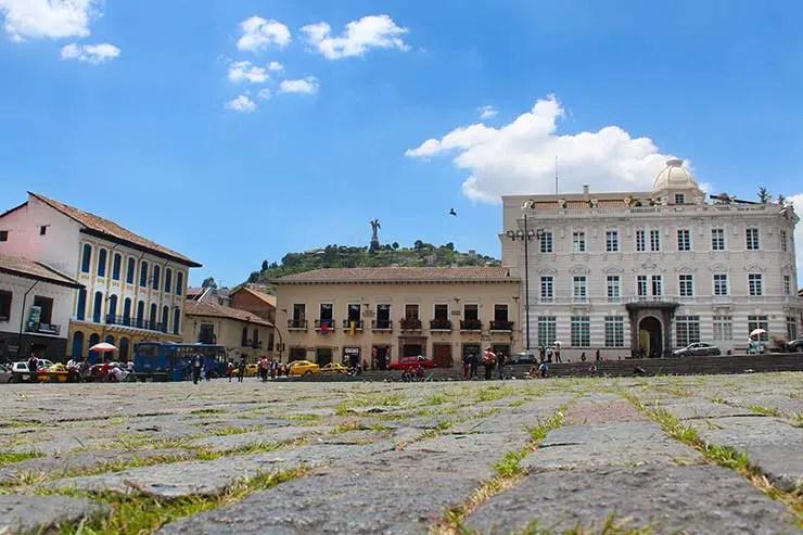 Plaza San Francisco em Quito (Foto: Esse Mundo É Nosso)