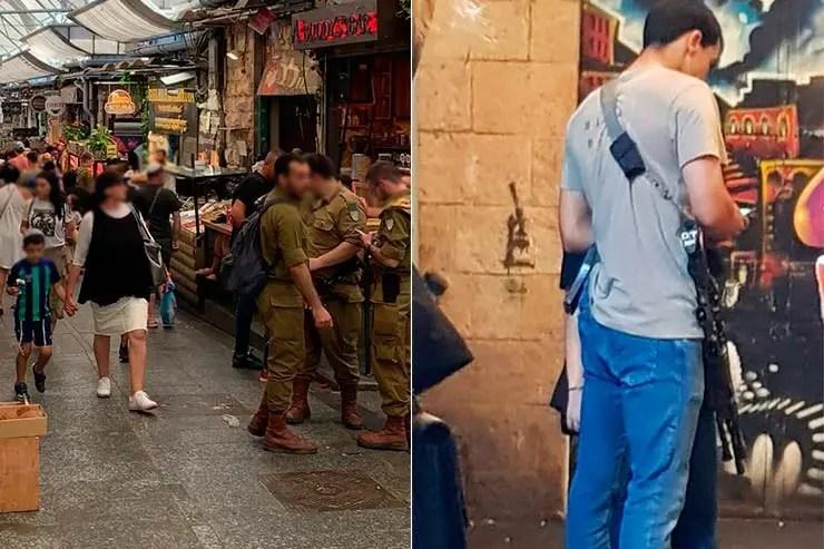 É seguro viajar pra Israel? Soldados em Jerusalém (Foto: Esse Mundo é Nosso)