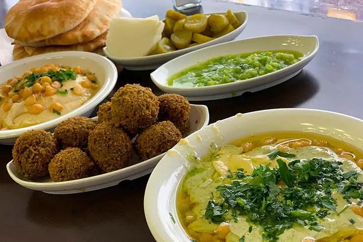 Comida árabe em Israel (Foto: Esse Mundo é Nosso)