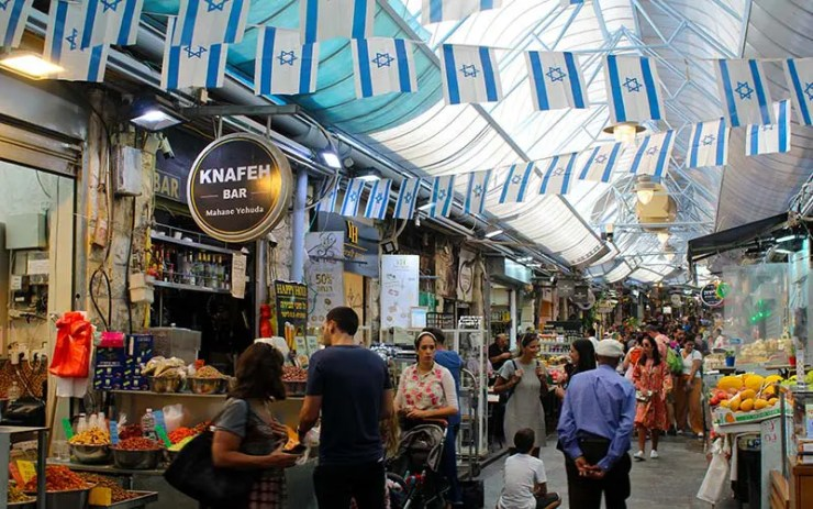 Mahane Yehuda Market em Jerusalém (Foto: Esse Mundo É Nosso)