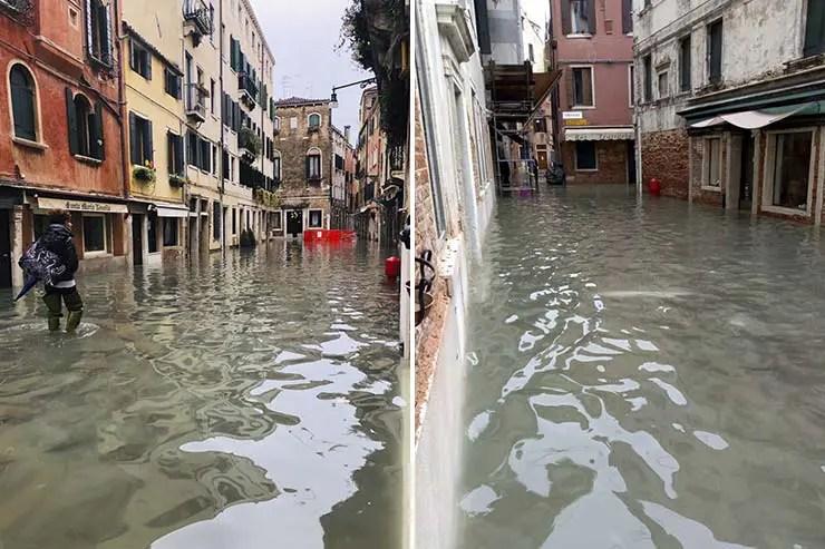 Inundação em Veneza Novembro 2019 (Fotos: Andressa Berton Stankievicz)