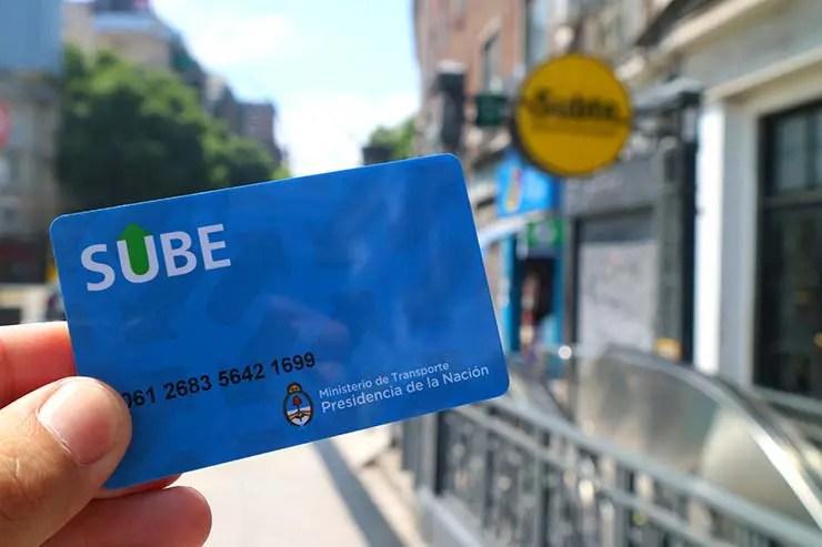 Sube, cartão do transporte público de Buenos Aires (Foto: Esse Mundo é Nosso)
