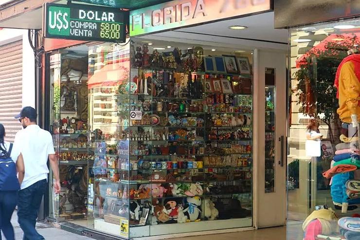 Calle Florida em Buenos Aires (Foto: Esse Mundo é Nosso)