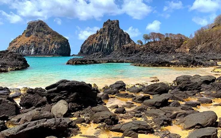 Onde fica Fernando de Noronha: Baía dos Porcos (Foto: Esse Mundo é Nosso)