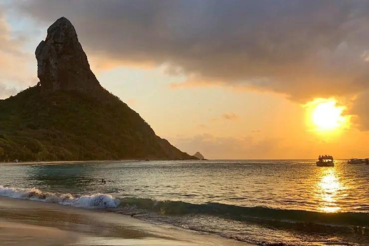 Pôr do sol na Praia da Conceição (Foto: Esse Mundo é Nosso)