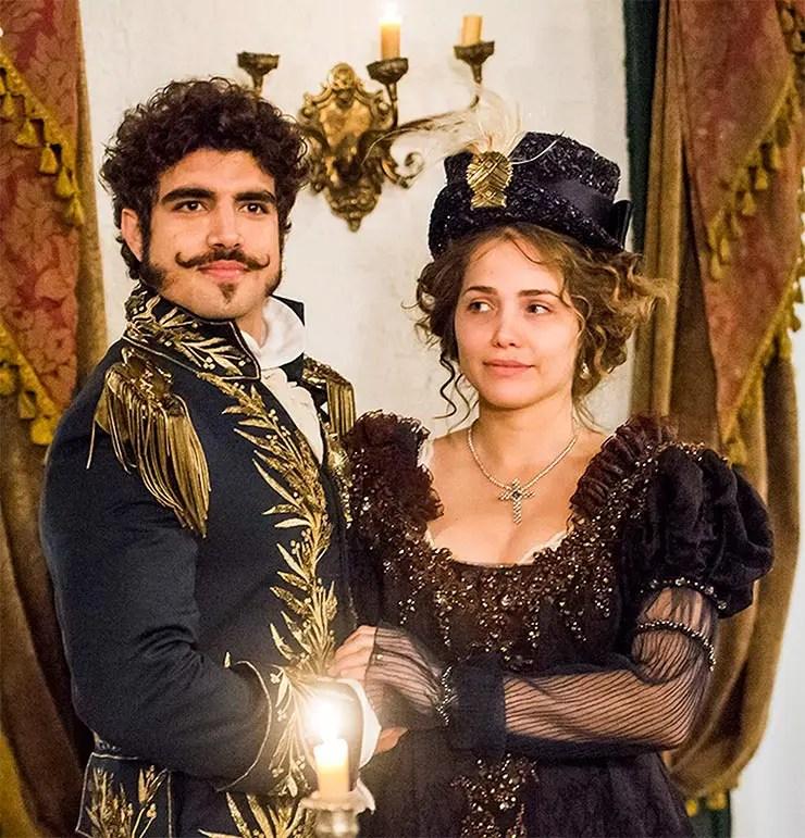 Caio Castro e Letícia Colin (Globo/João Miguel Júnior)