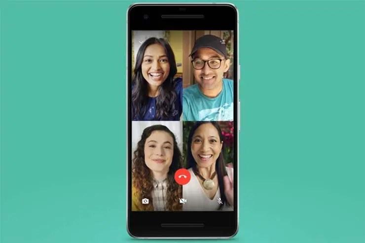 Videoconferência no WhatsApp (Foto: Divulgação)