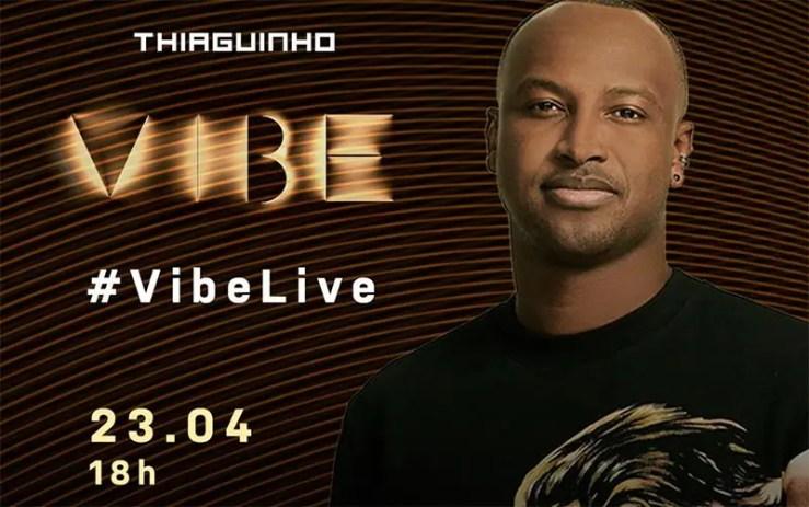 Assista agora ao vivo à live de Thiaguinho (Foto: Reprodução/YouTube)
