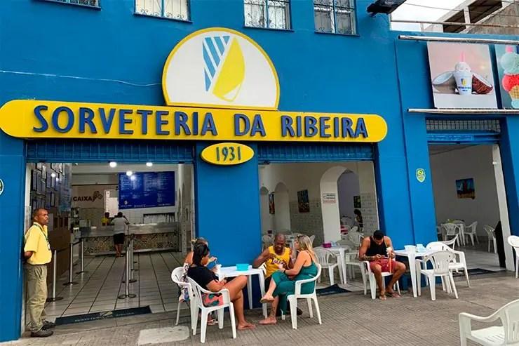 Salvador com chuva: Sorveteria da Ribeira (Foto: Esse Mundo é Nosso)