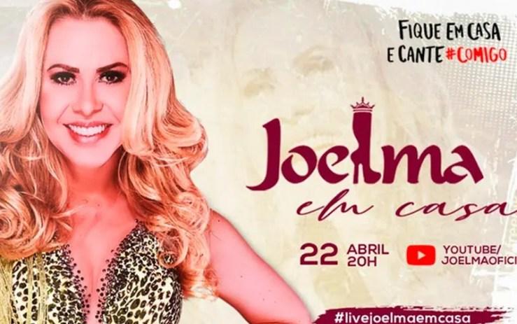 Assista agora ao vivo à live de Joelma (Foto: Reprodução/YouTube)