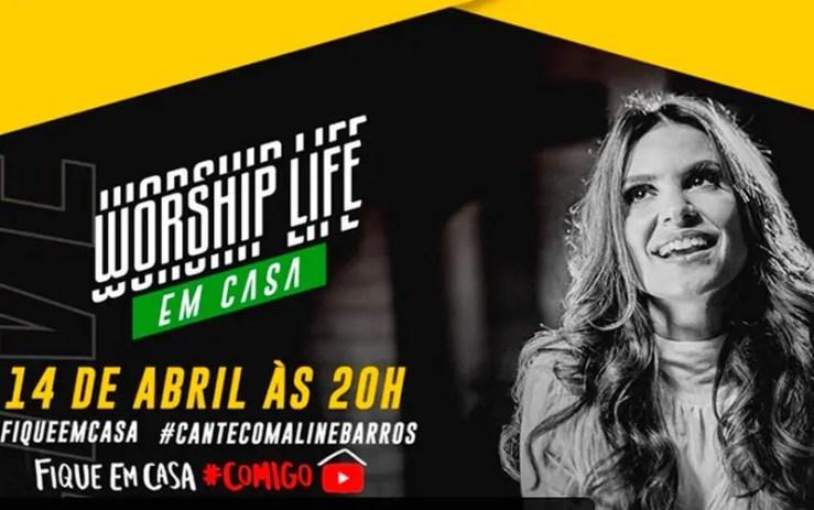 Assista agora ao vivo à live de Aline Barros (Foto: Reprodução/YouTube)