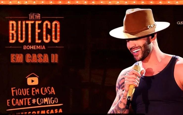 Assista agora ao vivo à live de Gusttavo Lima (Foto: Reprodução/YouTube)