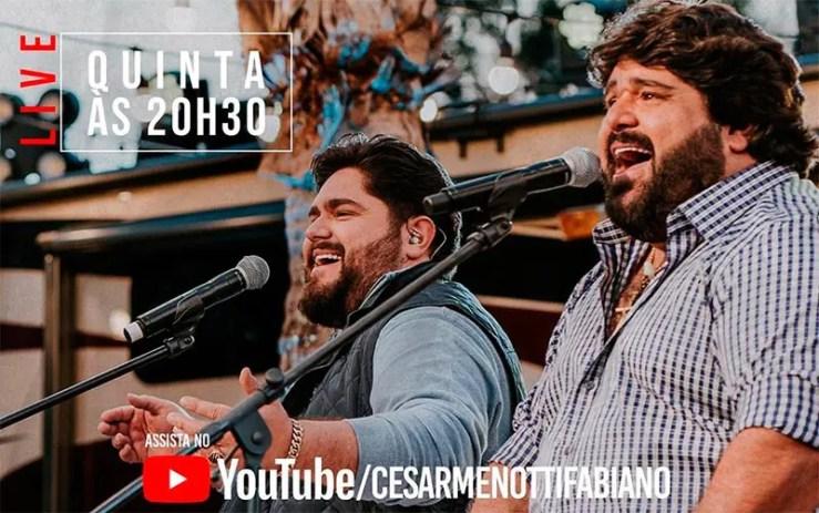 Live de César Menotti e Fabiano (Foto: Reprodução/Instagram(