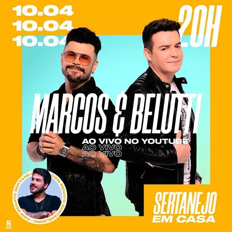 Live de Marcos e Belutti (Foto: Reprodução/Instagram Marcos e Belutti)