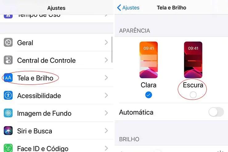 Modo Noturno iPhone (Foto: Esse Mundo É Nosso)