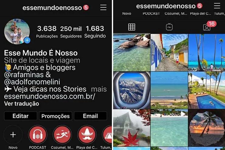 Instagram Preto - Modo Noturno iPhone (Foto: Esse Mundo É Nosso)