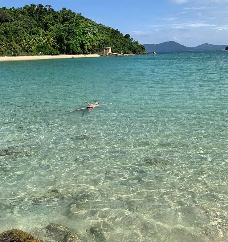 Vista pra Ilha do Peregrino (Foto: Esse Mundo É Nosso)